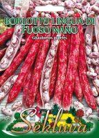 Žemaūgės daržinės pupelės Borlotto lingua di fuoso nano