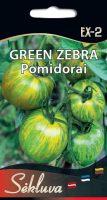 Valgomieji pomidorai Green Zebra