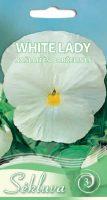 Darželinės našlaitės White Lady